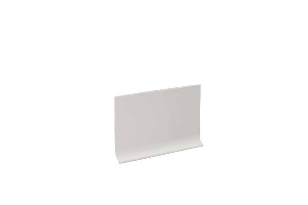 4 Inch x 20 Feet Vinyl Wall Base Self Stick - White