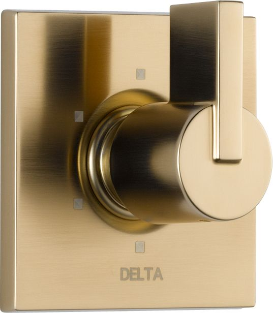 Vero 1-Handle 6-Setting Diverter Valve Trim Kit in Champagne Bronze (Valve Not Included)
