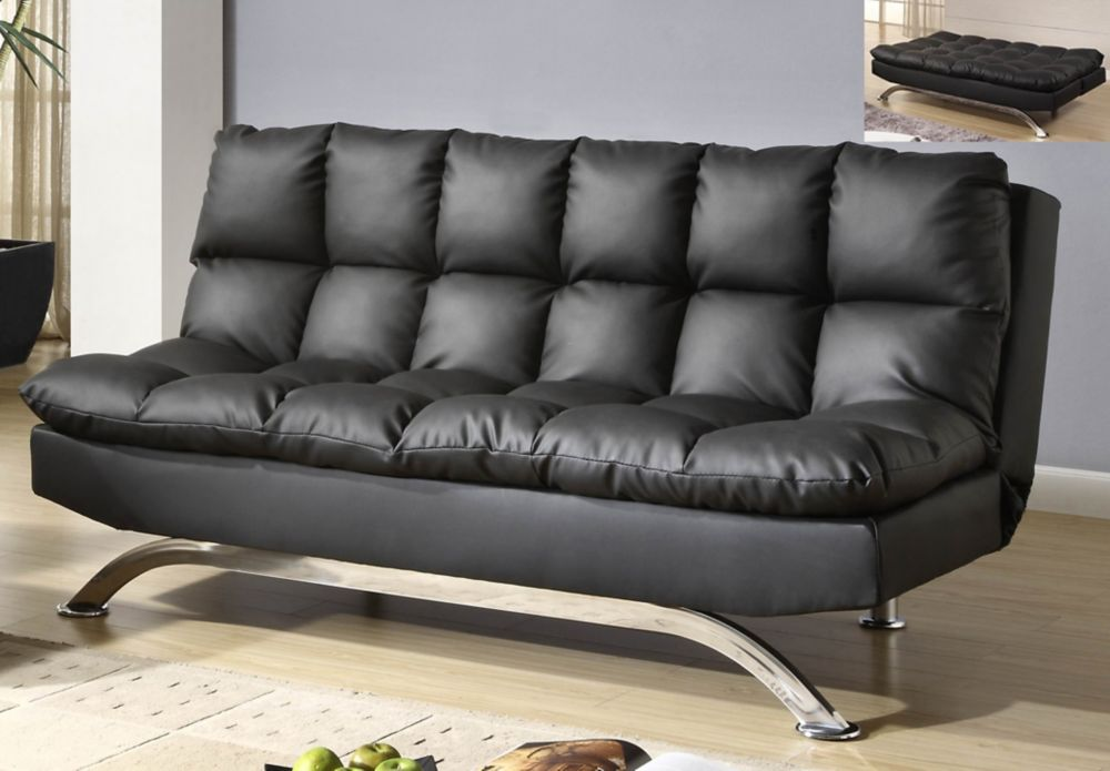 Sussex-Klik Klak Convertible Sofa Bed-Black
