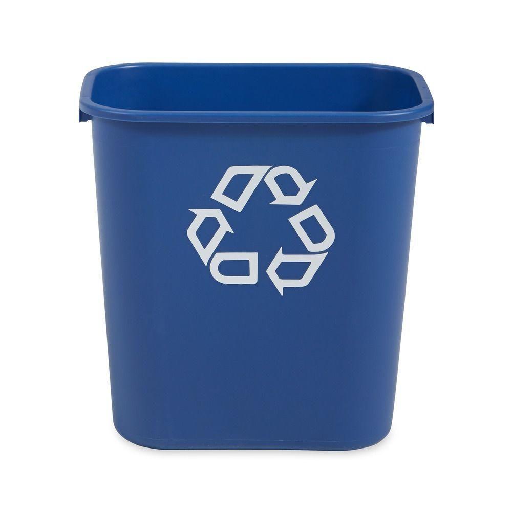 Contenant de recyclage Rubbermaid de 27L - bleu