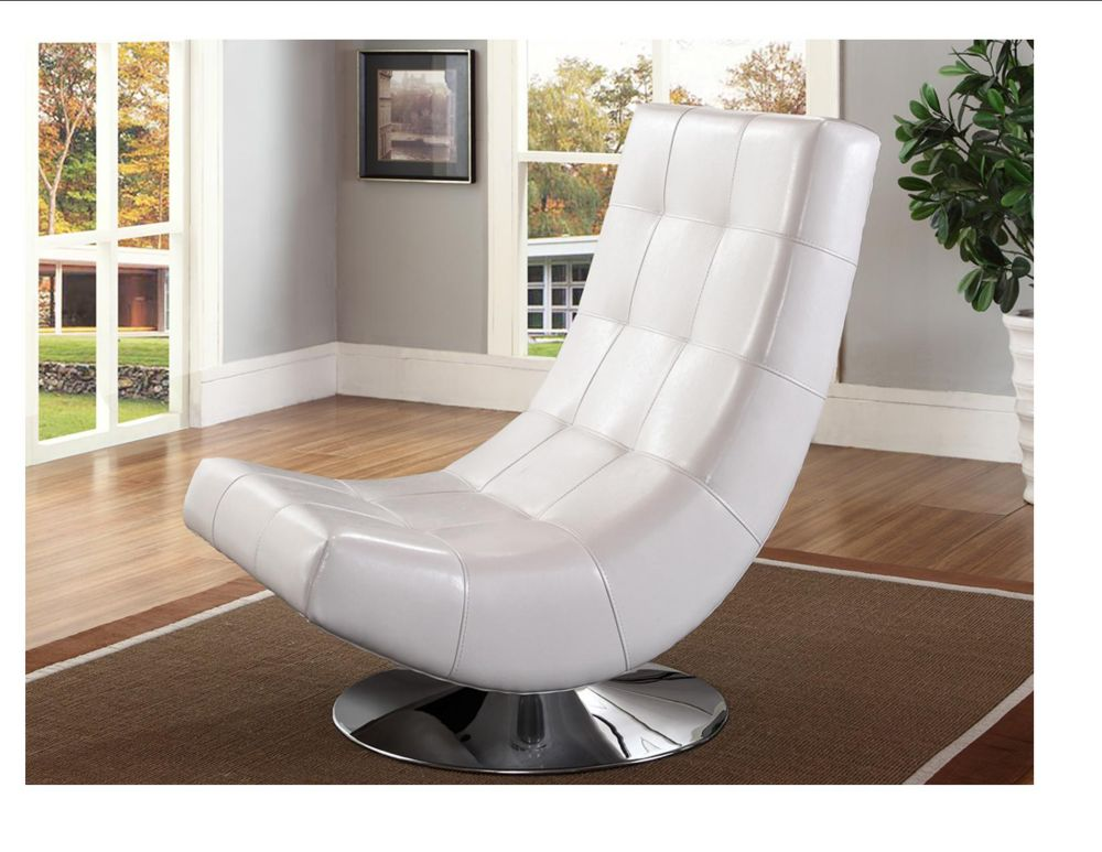 Electra  Accent Chair-White