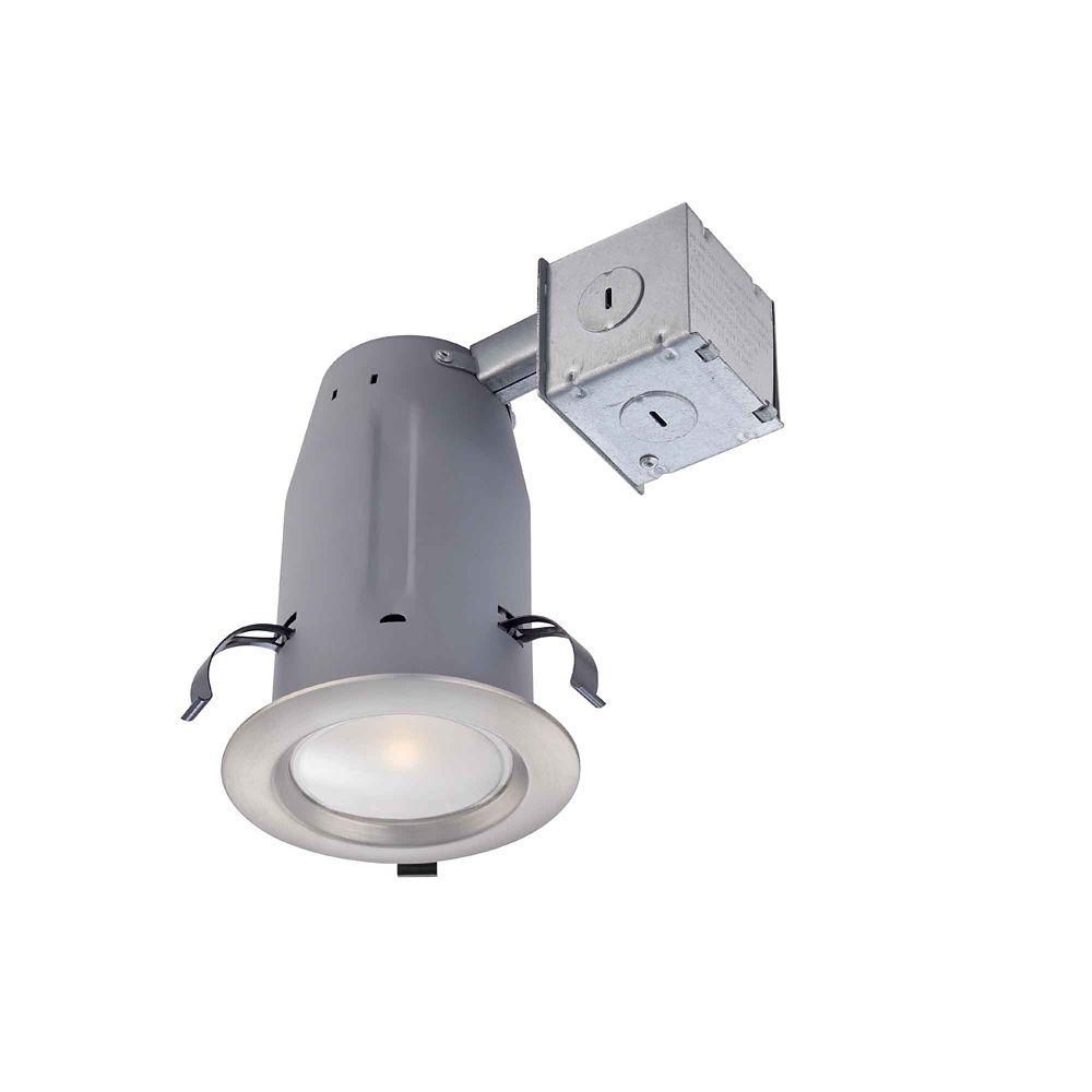 Brushed Nickel LED Recessed Kit - 3 Inch