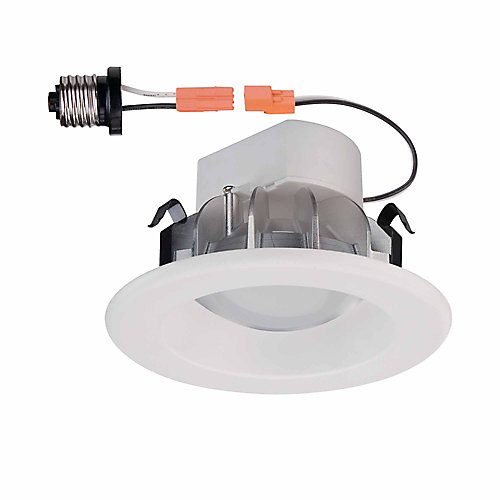 White Recessed LED Trim   4 InchCommercial Electric White Recessed LED Trim   4 Inch   The Home  . Recessed Led Lighting Fixtures Canada. Home Design Ideas