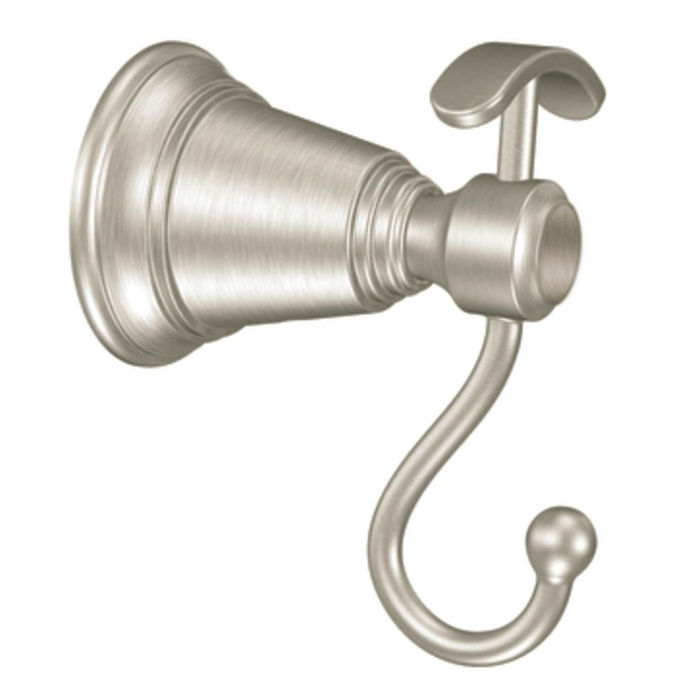 Brushed Nickel Rothbury Double Robe Hook