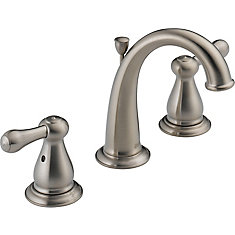 Leland 8-inch Widespread 2-Handle High-Arc Bathroom Faucet in Stainless Finish