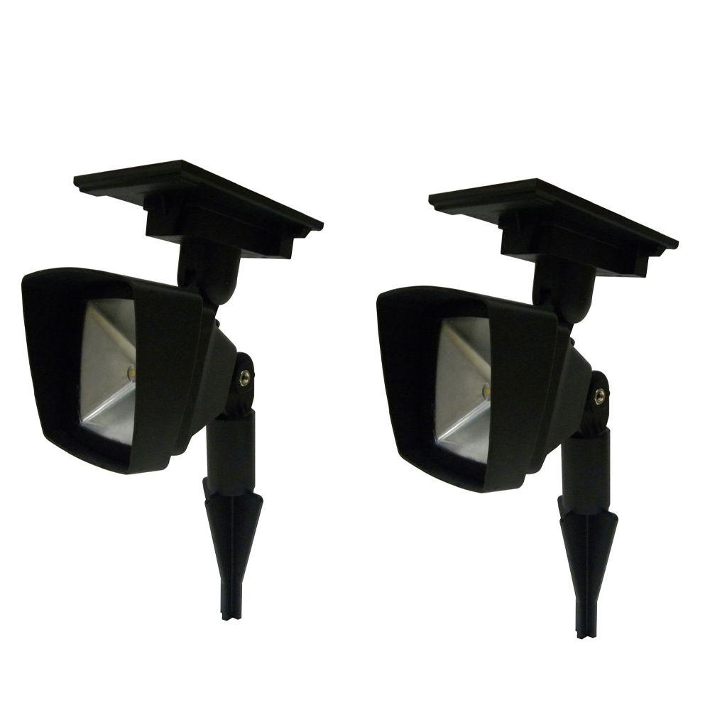 Paquet de 2 projecteurs solaires del