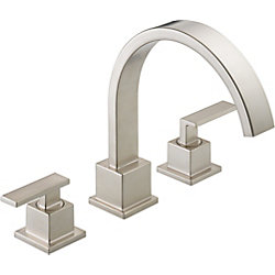 Vero 2-Handle Roman Bath Faucet Only in Stainless Finish