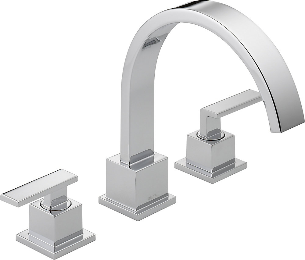 Vero 2-Handle Roman Bath Faucet Only in Chrome Finish