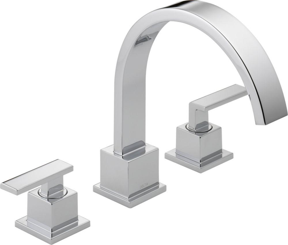Vero 2-Handle Roman Bath Faucet Only in Chrome Finish