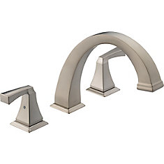 Dryden 2-Handle Roman Bath Faucet Only in Stainless Finish