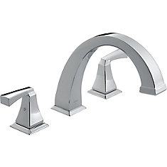 Dryden 2-Handle Roman Bath Faucet Only in Chrome Finish