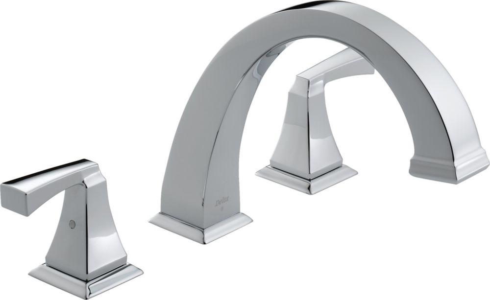 Dryden - Garniture seulement, 2 manettes pour baignoire romaine, Chrome