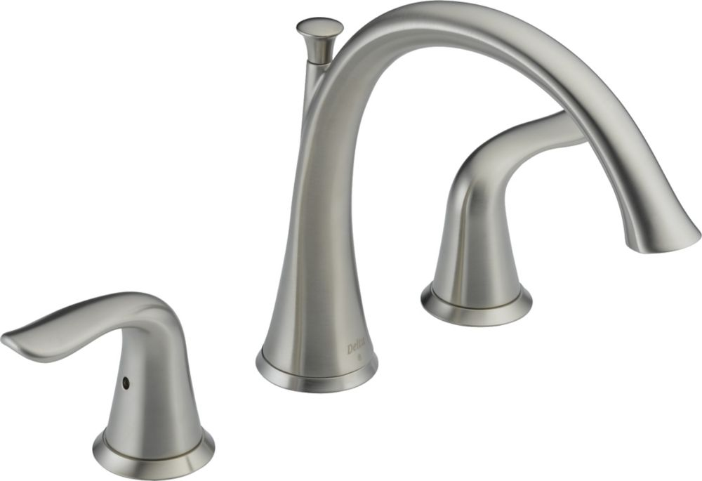 Lahara 2-Handle Roman Bath Faucet Only in Stainless Finish