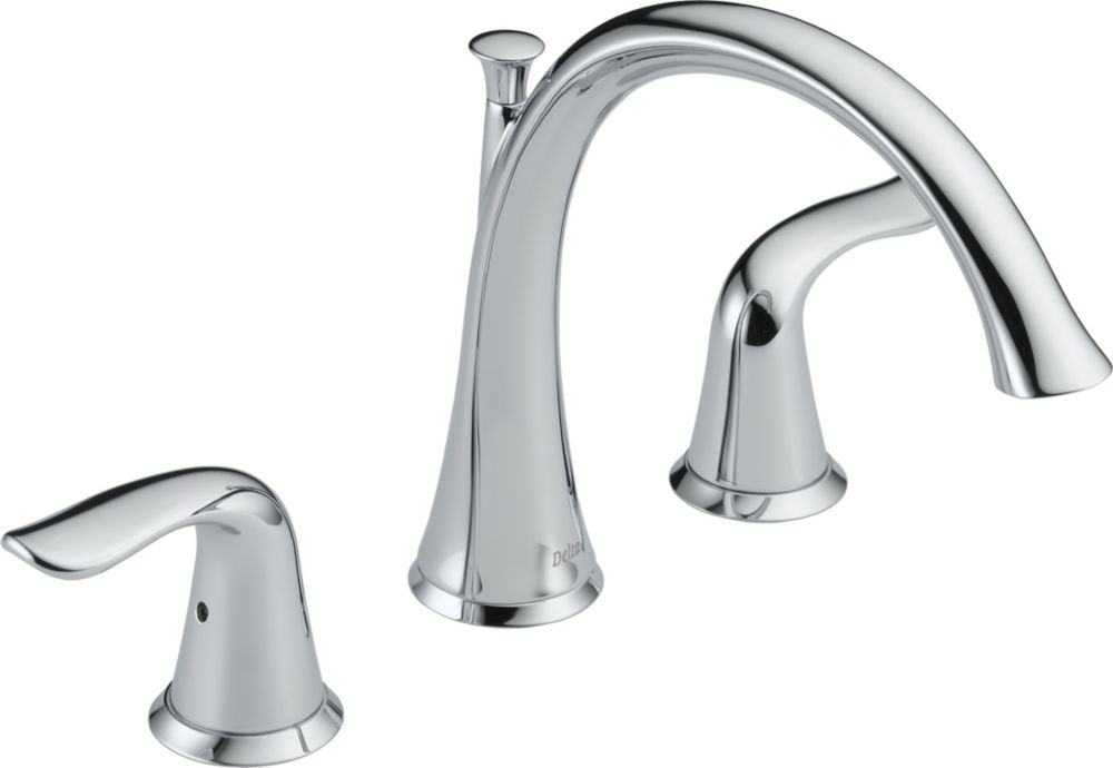 Lahara 2-Handle Roman Bath Faucet Only in Chrome Finish
