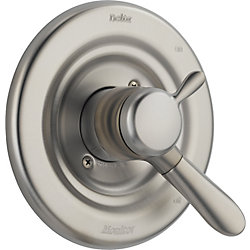 Lahara 1-Handle Diverter Valve Trim Kit in Stainless (Valve Not Included)