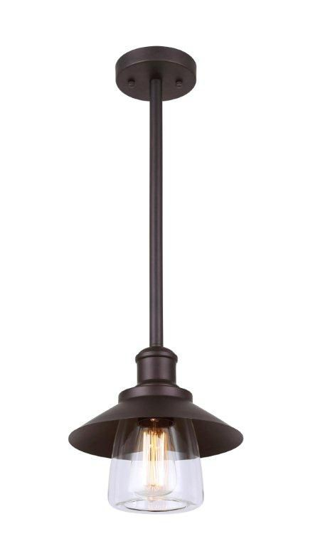 INDI 1 Light ORB Pendant, Clear Glass