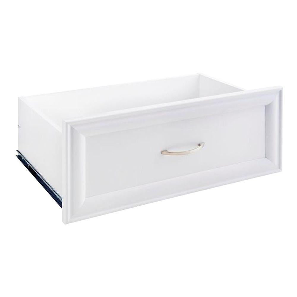 Tiroir décoratif standard, 23,5 po x 10 po, blanc