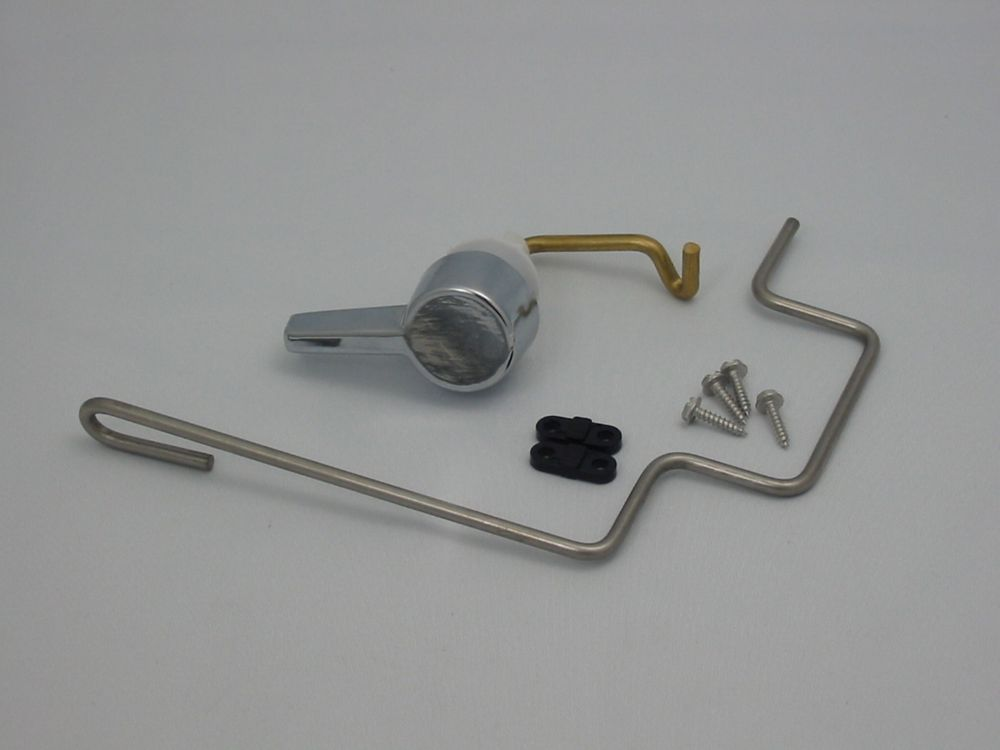 Replacement Toilet Tank Lever with Linkage for American Standard, Chrome  738254-0020A