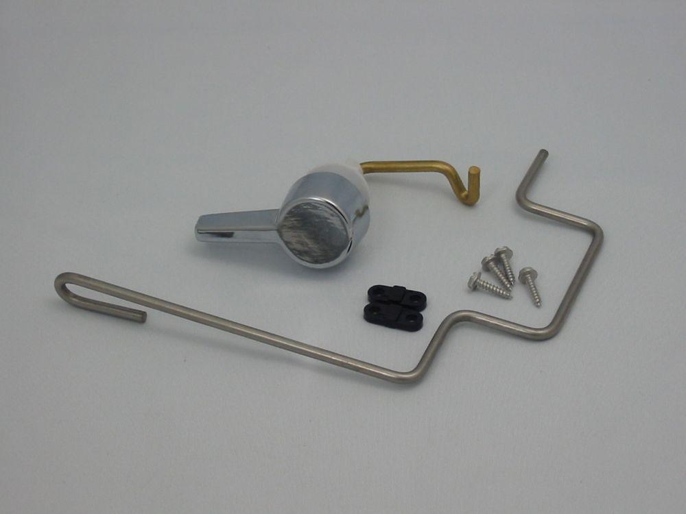 Manette de remplacement avec tringlerie pour réservoir de toilette American Standard, chrome, 738...