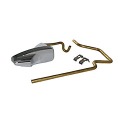 Jag Plumbing Products Replacement Toilet Tank Lever with Linkage for GERBER Pressure assist Ref: 99-571-KT, Chrome