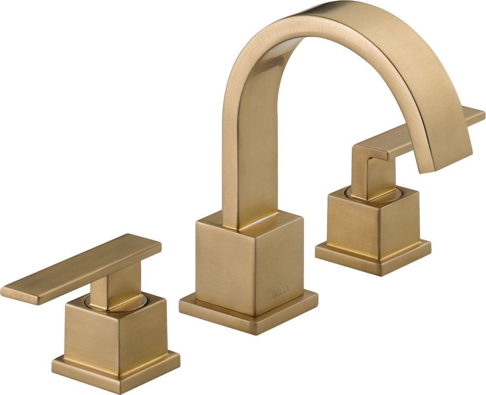 Delta Vero Widespread (8-inch) 2-Handle High Arc Bathroom Faucet in Bronze with Lever Handles