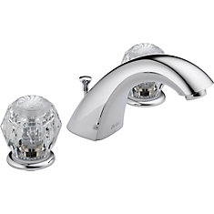 Classic 2-Handle Bathroom Faucet in Chrome Finish