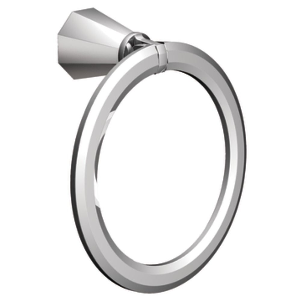 Chrome Felicity Towel Ring