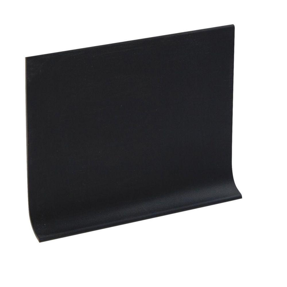 4 Inch Vinyl Wall Cove Base - 120 Foot Roll - Black