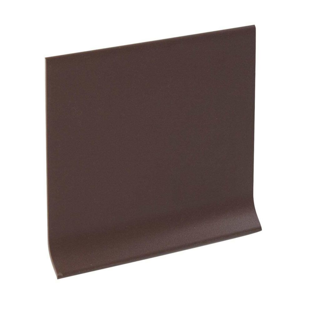 4 Inch Vinyl Wall Cove Base - 120 Foot Roll - Brown