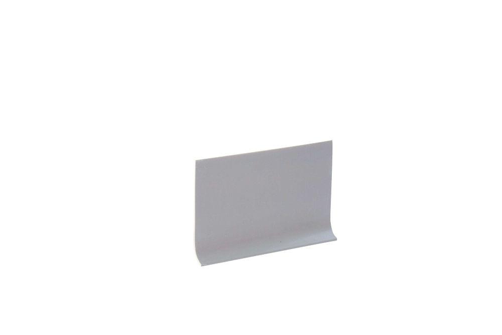 Shur Trim 4-inch Vinyl Wall Cove Base - 120 Foot Roll - Silver Grey