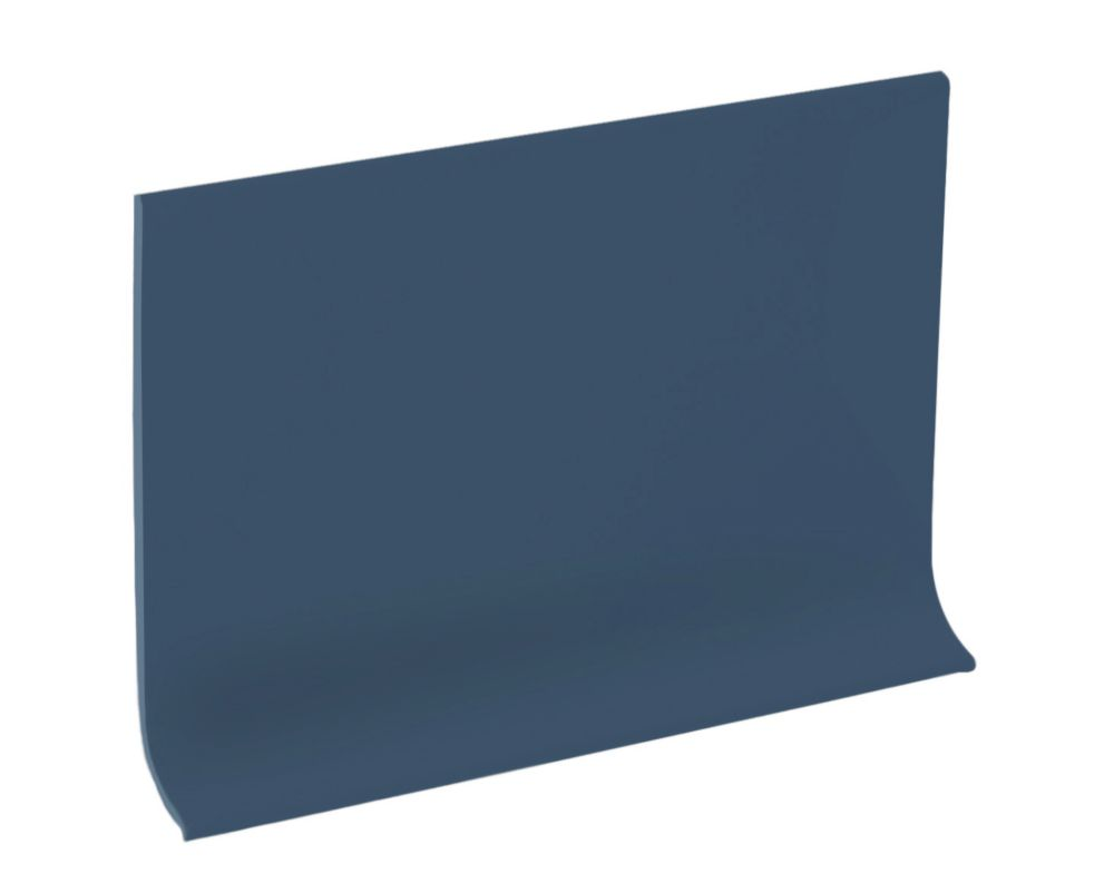 4 Inch Vinyl Wall Cove Base - 120 Foot Roll - Steel Blue
