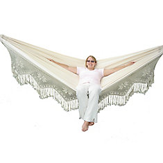 Brazilian-Style Double Deluxe Hammock in Natural