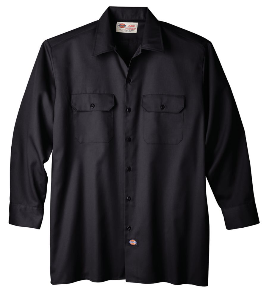 a5f4ff40 Dickies 574 Long Sleeve Button Front Work Shirt - Medium   The Home ...
