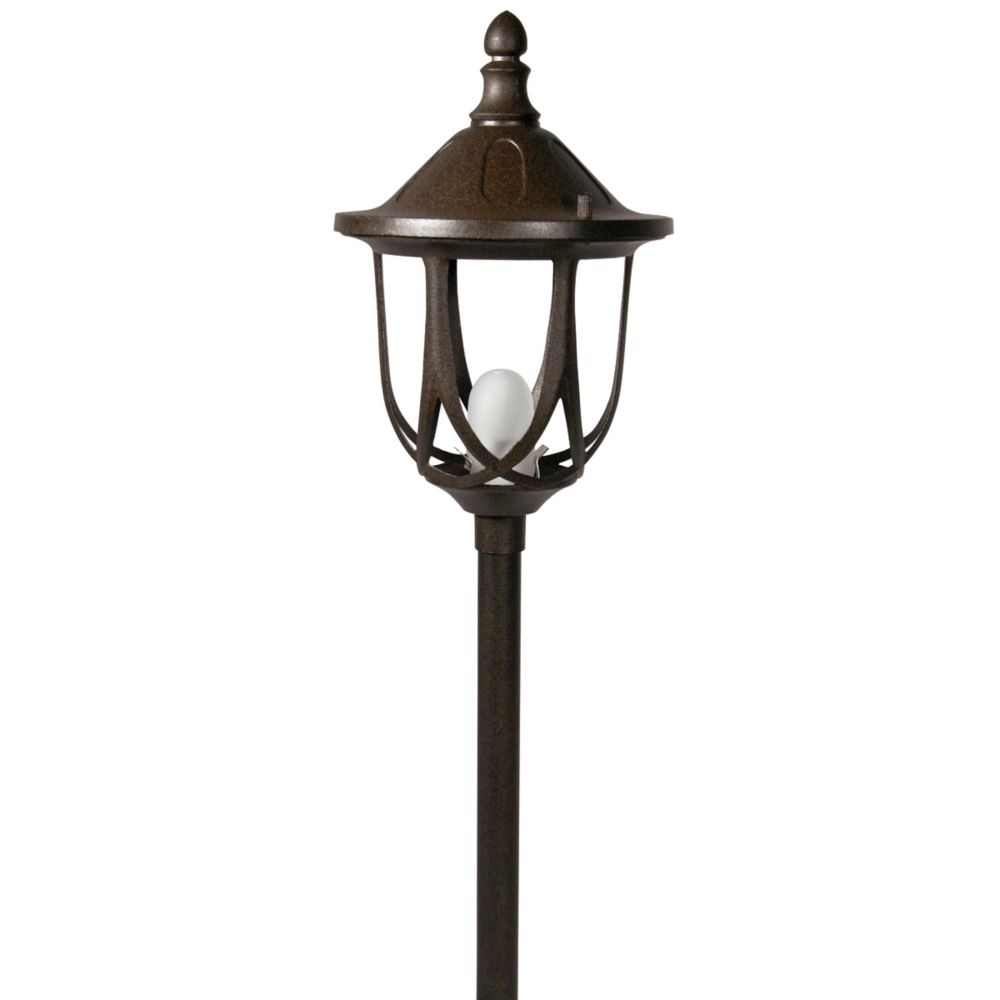 Lampe d'allée à basse tension en aluminium moulé - Couleur rouille