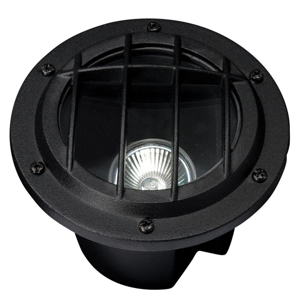Low Voltage Cast Aluminum Sun Fire Uplight/Well Light - Black Finish