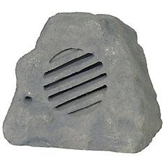 120V Polyresin Rock Speaker - Grey