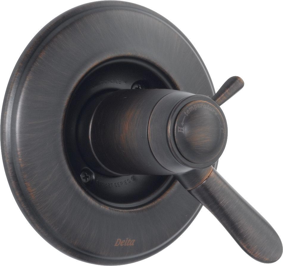 Lahara 1-Handle Thermostatic Diverter Valve Trim Kit in Venetian Bronze (Valve Not Included)