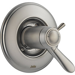 Lahara 1-Handle Thermostatic Diverter Valve Trim Kit in Stainless (Valve Not Included)