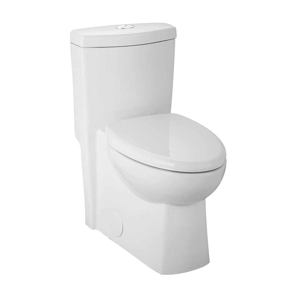 All-In-One 1-Piece 1.28 GPF Dual Flush Elongated Bowl Toilet with Concealed Trapway
