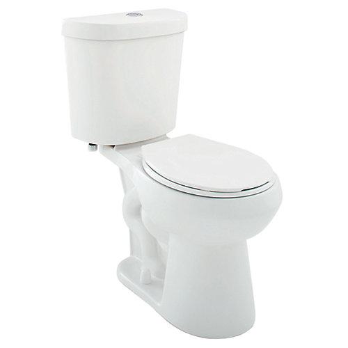 Toilette complète à devant rond et à double chasse deau, 4,1 L ou 6 L