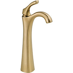 Addison Single Hole 1-Handle High Arc Bathroom Faucet in Bronze with Lever Handle
