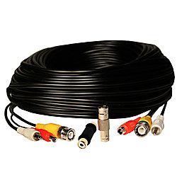 Security Labs 50 pi RCA Audio / Vidéo BNC / 2.1mm câble de rallonge d'alimentation DC - Black