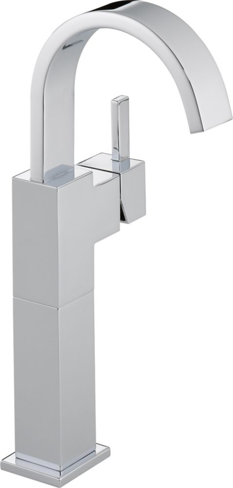 Vero Single Hole Single-Handle High-Arc Bathroom Faucet in Chrome Finish