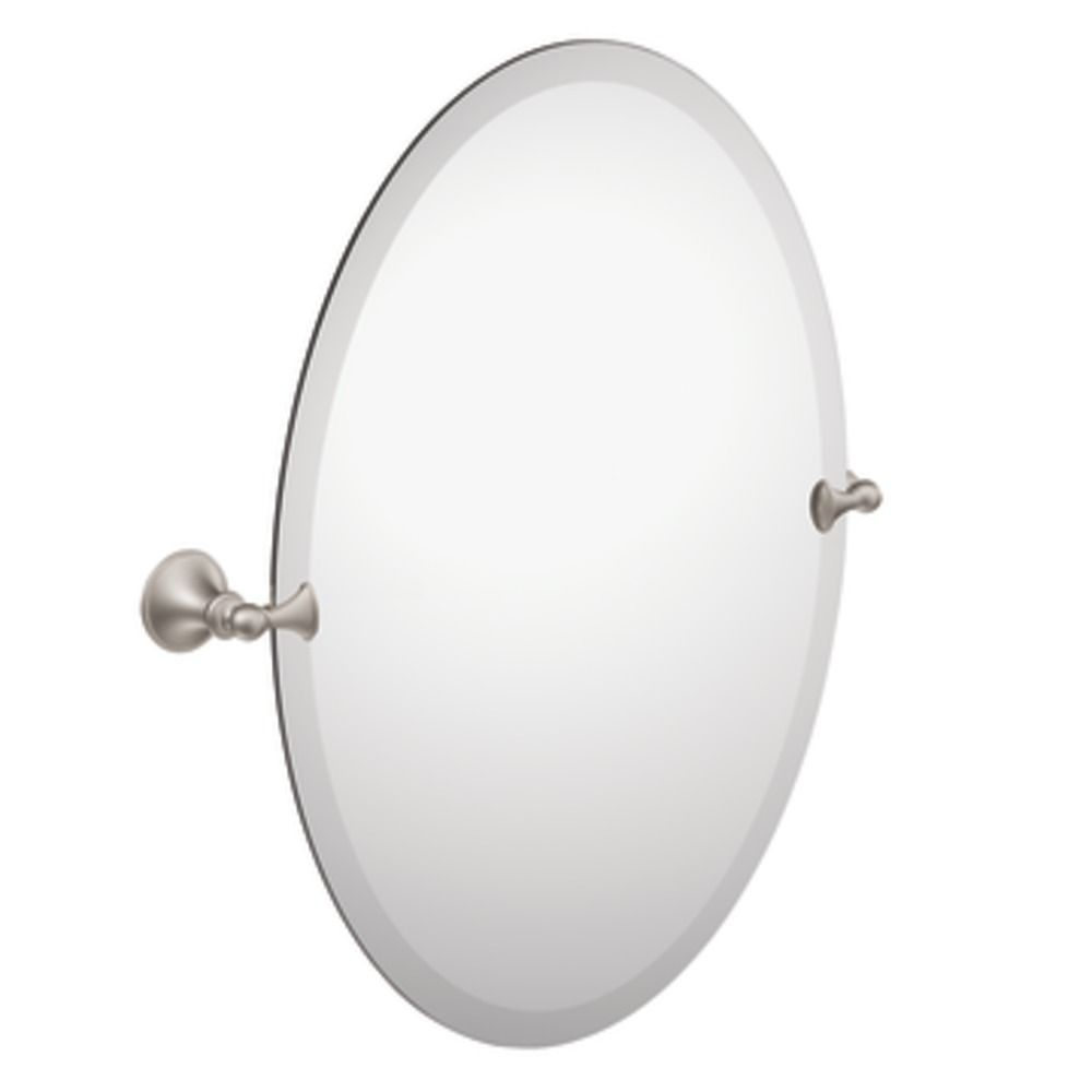 Brushed Nickel Glenshire Oval Tilting Mirror
