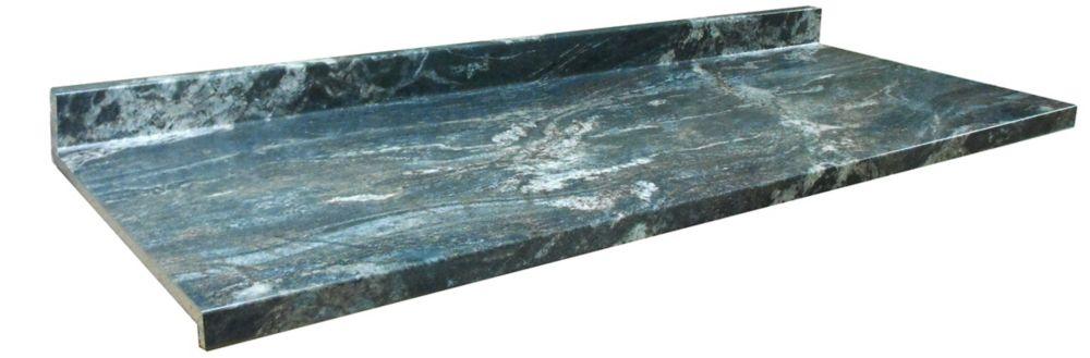 Kitchen Countertop, Profile Ora, Black Storm 6357-FX46, 25.25 Inches X 96 Inches