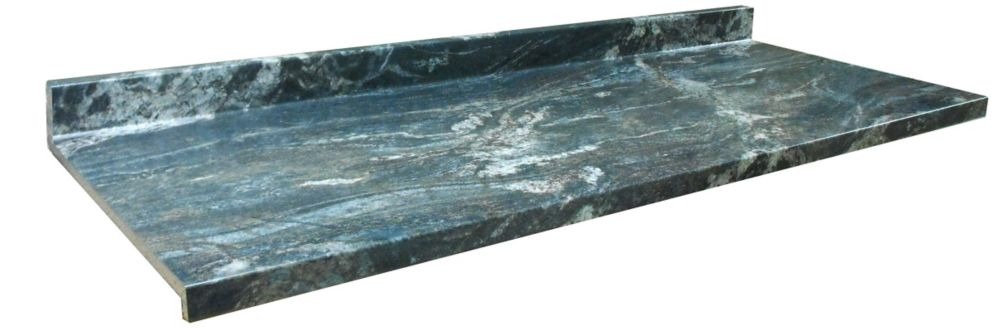 Kitchen Countertop, Profile Ora, Black Storm 6357-FX46, 25.25 Inches X 120 Inches