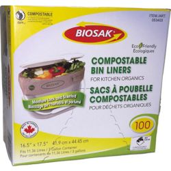 Biosak 100 Sacs compostables pour déchets organiques