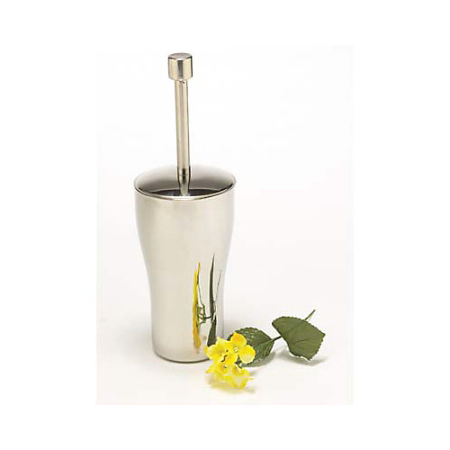Diana Toilet Brush With Holder Polished Stainless Steel