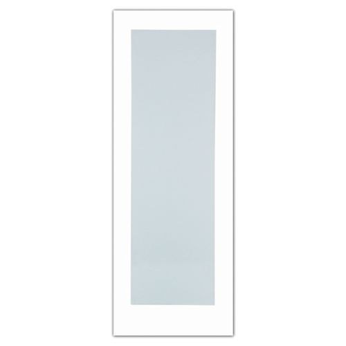 Milette 32-inch x 80-inch Primed 1-Lite French Door with White Laminated Tempered Glass