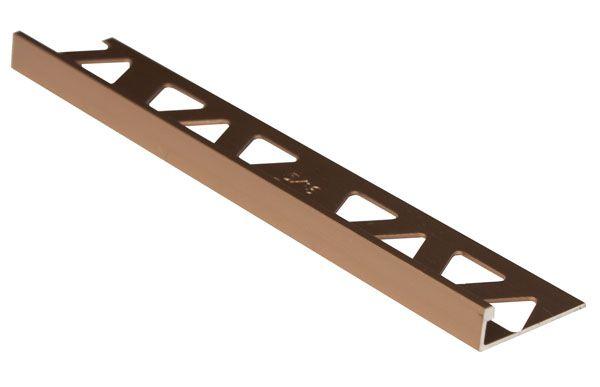 Bordures En Aluminium Pour Carreaux 3/8 Pouce(10MM) - 8 Pied - Bronze Foncé Satiné - Paquet de 10